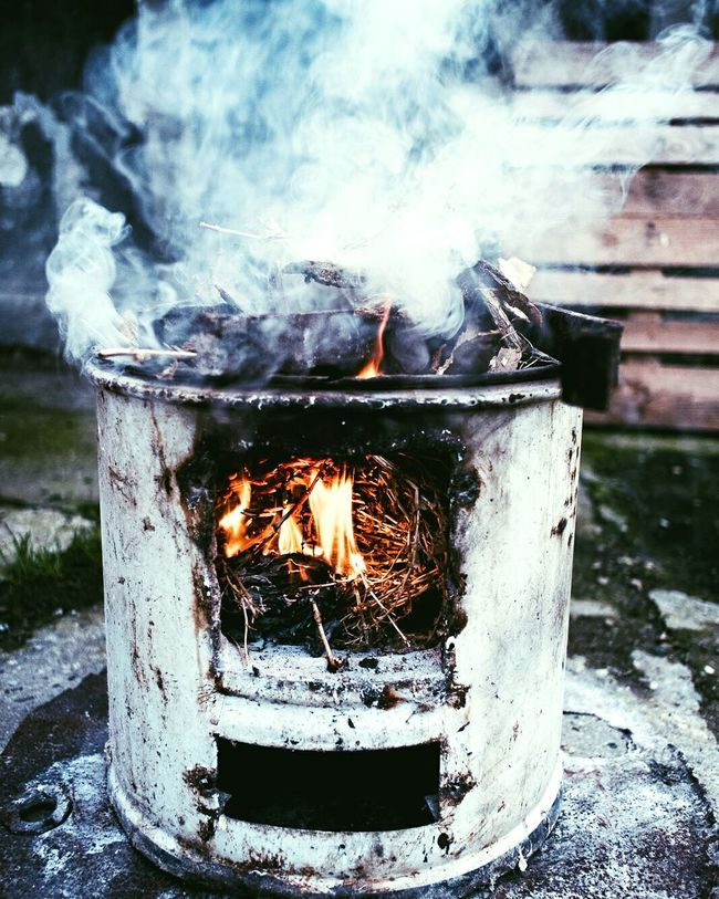 Heat - Temperature Fire - Natural Phenomenon Burning Smoke - Physical Structure Flame No People Outdoors Close-up Water Day Fire Pit Coal Tagsforlikes Like4like Photographer Italy Enjoying Life Relaxing Italianeography First Eyeem Photo