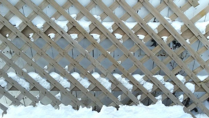 It's Cold Outside Diamonds Fencing Snow Pattern Geometry Geometric Shapes Cold Icy Wood - Material Rough Busy