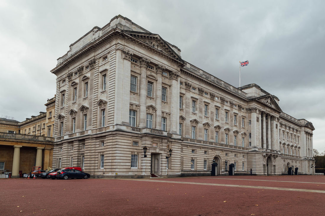 Buckingham Palace... Architecture Britain British Royal Family Buckingham Palace City England Flag London London Lifestyle Monarchy Moody Sky Royalty Sky The Queen The Queens Home. Tourism Tourist Tourist Attraction  Tourist Destination Tourist Spot Travel Travel Destinations Travel Photography Traveling Uk