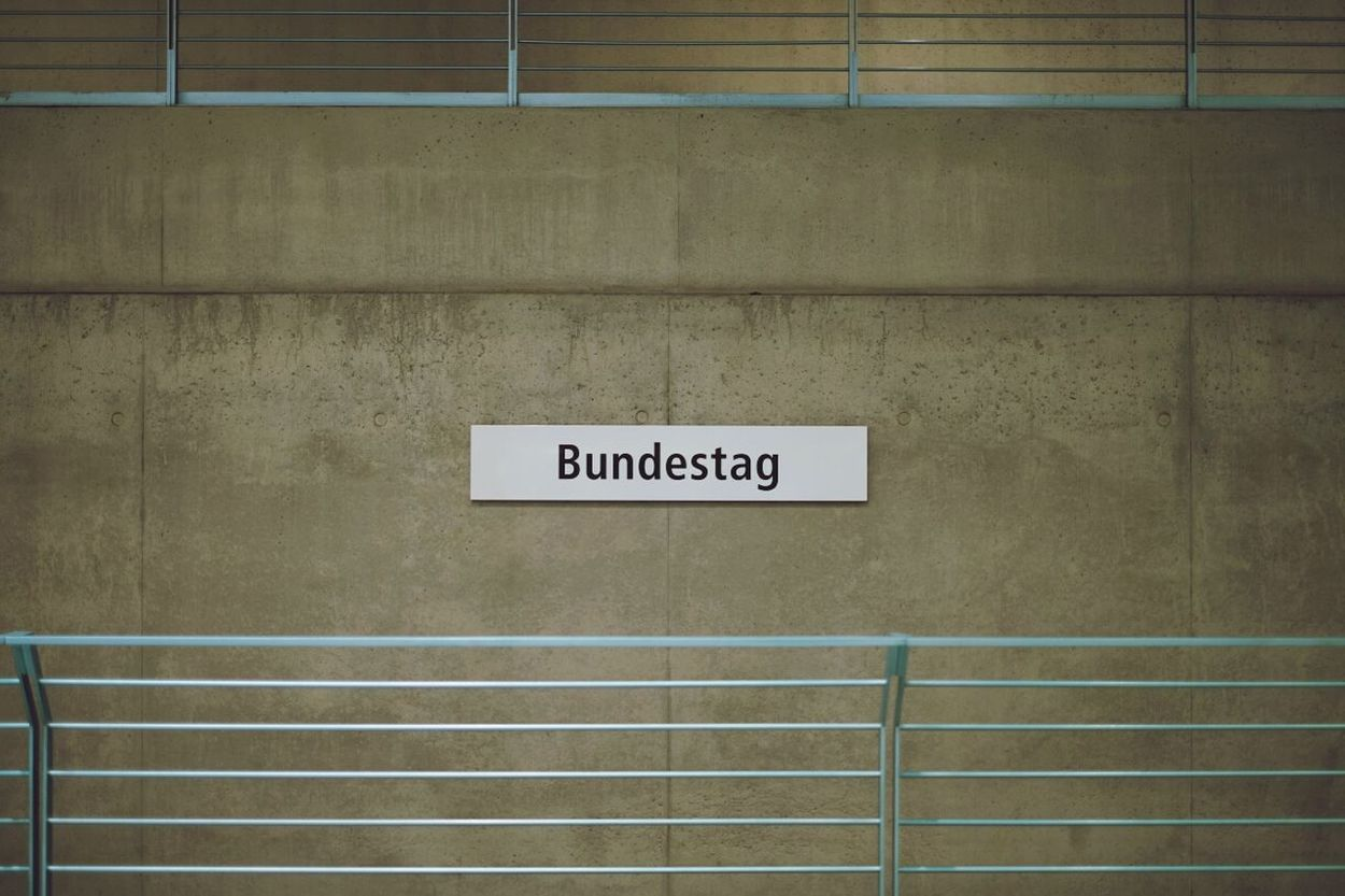 Berlin Subway Station Signage U55 Symmetry