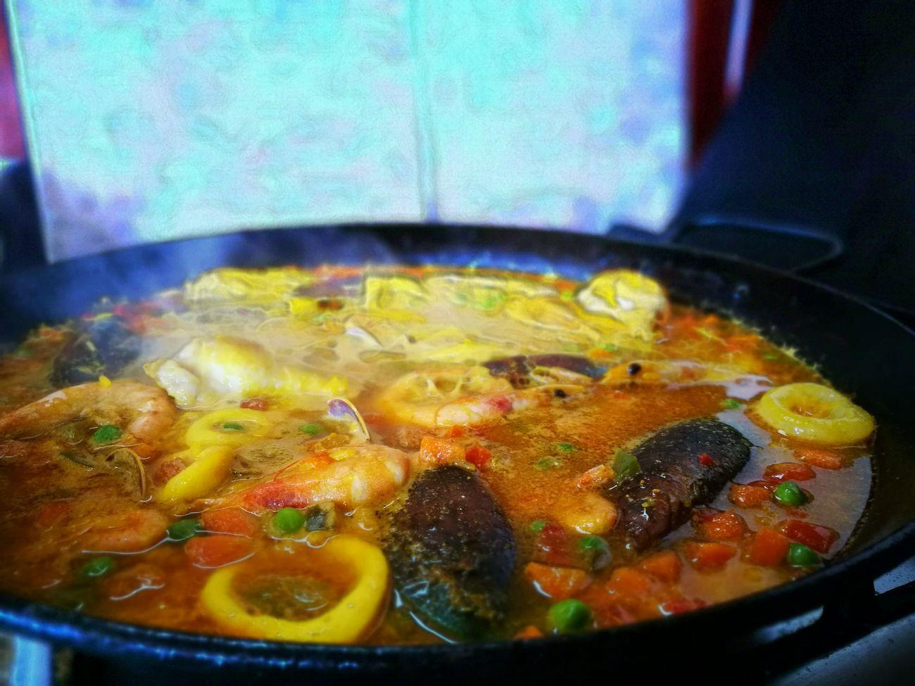 Paella Marisco Pollo Spanish Food Heat - Temperature Food Freshness Ready-to-eat HuaweiP9 Seafood Vegetable Love Food, Love Life.