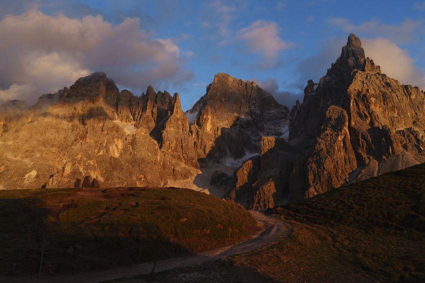 Cimon Clouds Dolomites Dolomiti Landscape Mountain Nature Outdoors Pale Di San Martino Peak San Martino Di Castrozza Sky Sunset Lost In The Landscape