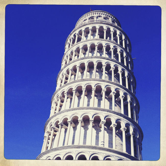 Leaning Tower of Pisa, Italy. Architectural Feature Architecture Blue Built Structure Capital Cities  Clear Sky Culture Day Famous Place History International Landmark Italy Leaning Tower Of Pisa Low Angle View No People Outdoors Pisa Sky Tourism Tourist Attraction  Tower Travel Destinations