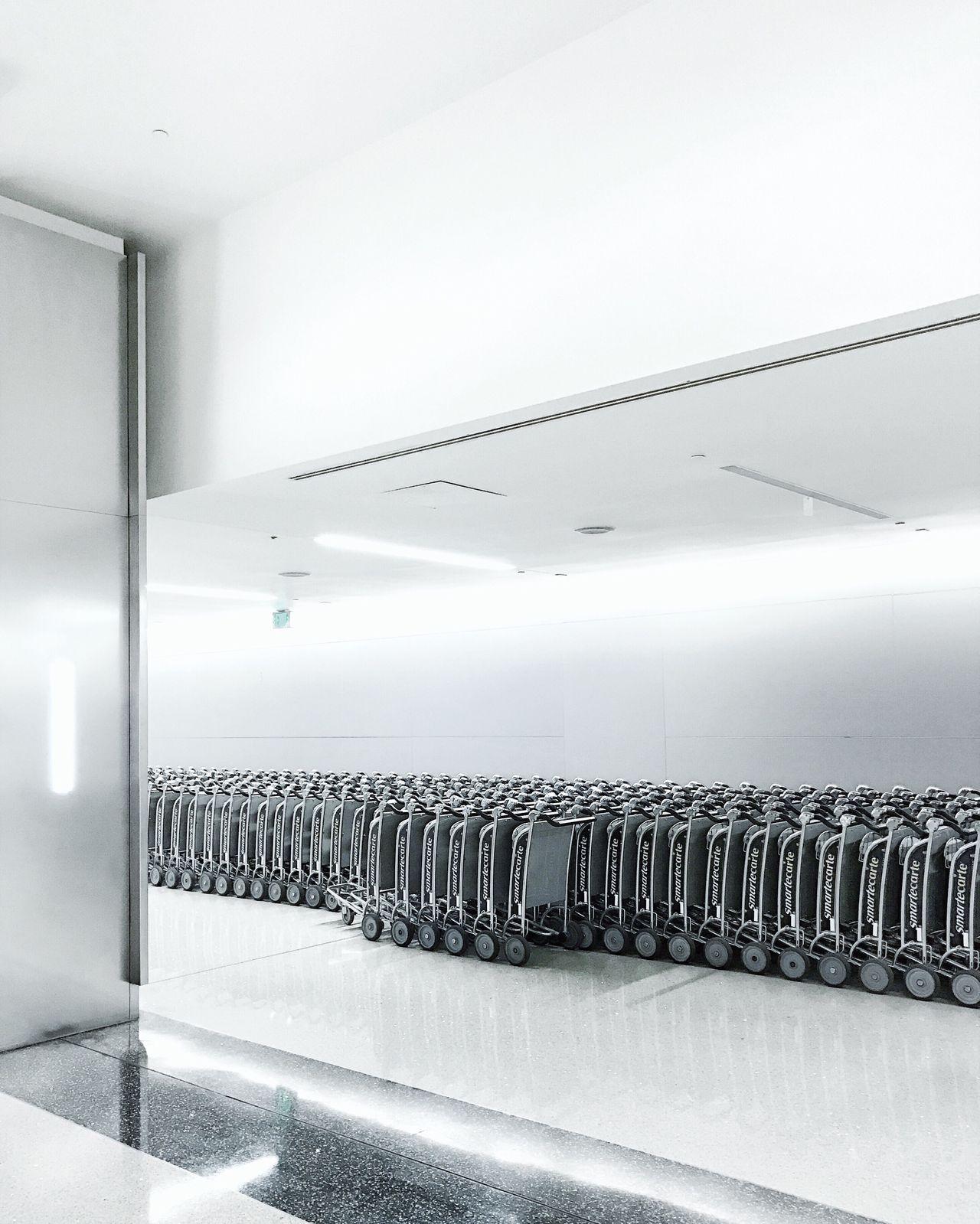 Carts indoors lax airport LAX cart minimal minimalism indoor