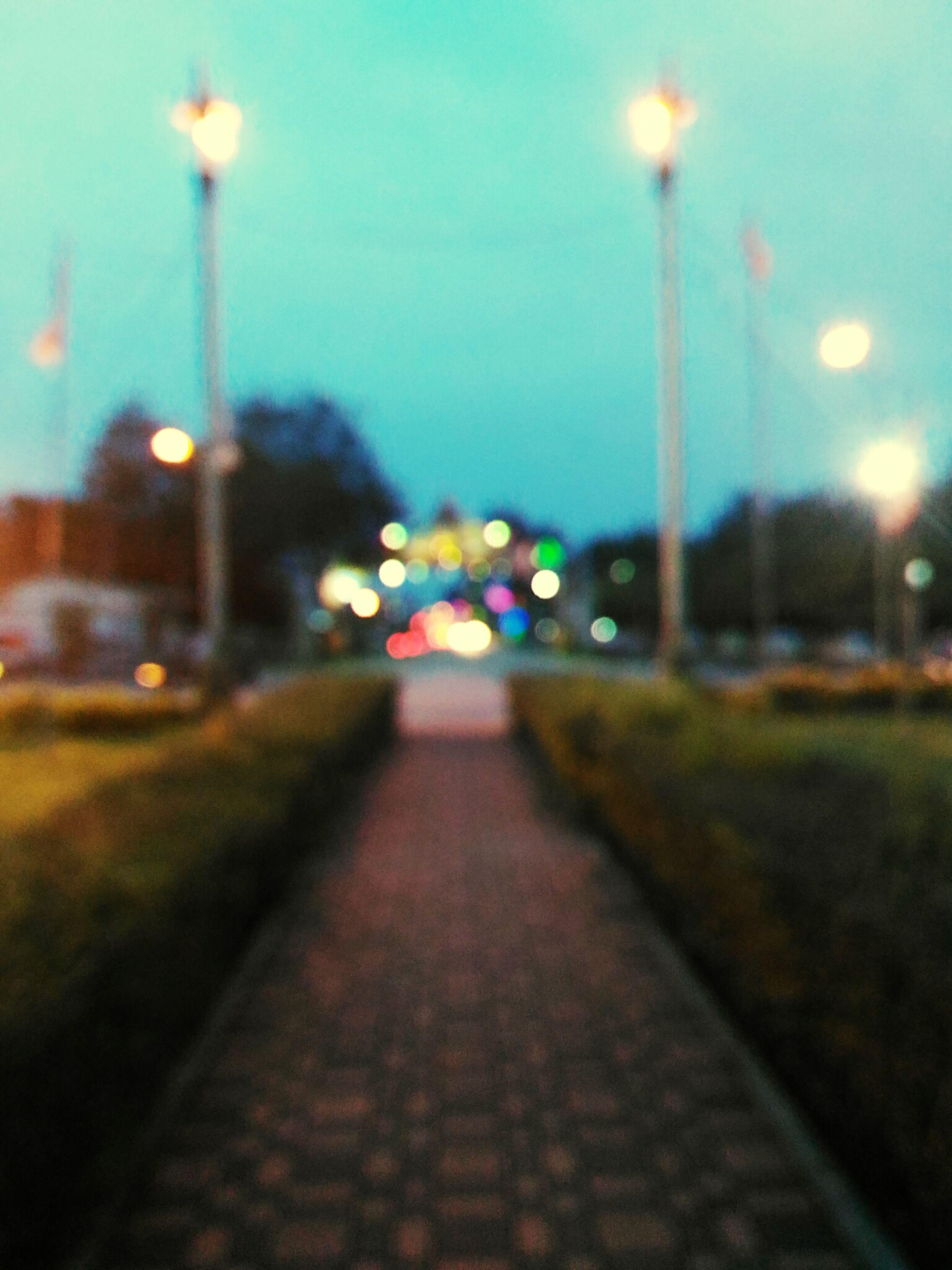 illuminated, no people, street light, the way forward, outdoors, city, night, sky, architecture