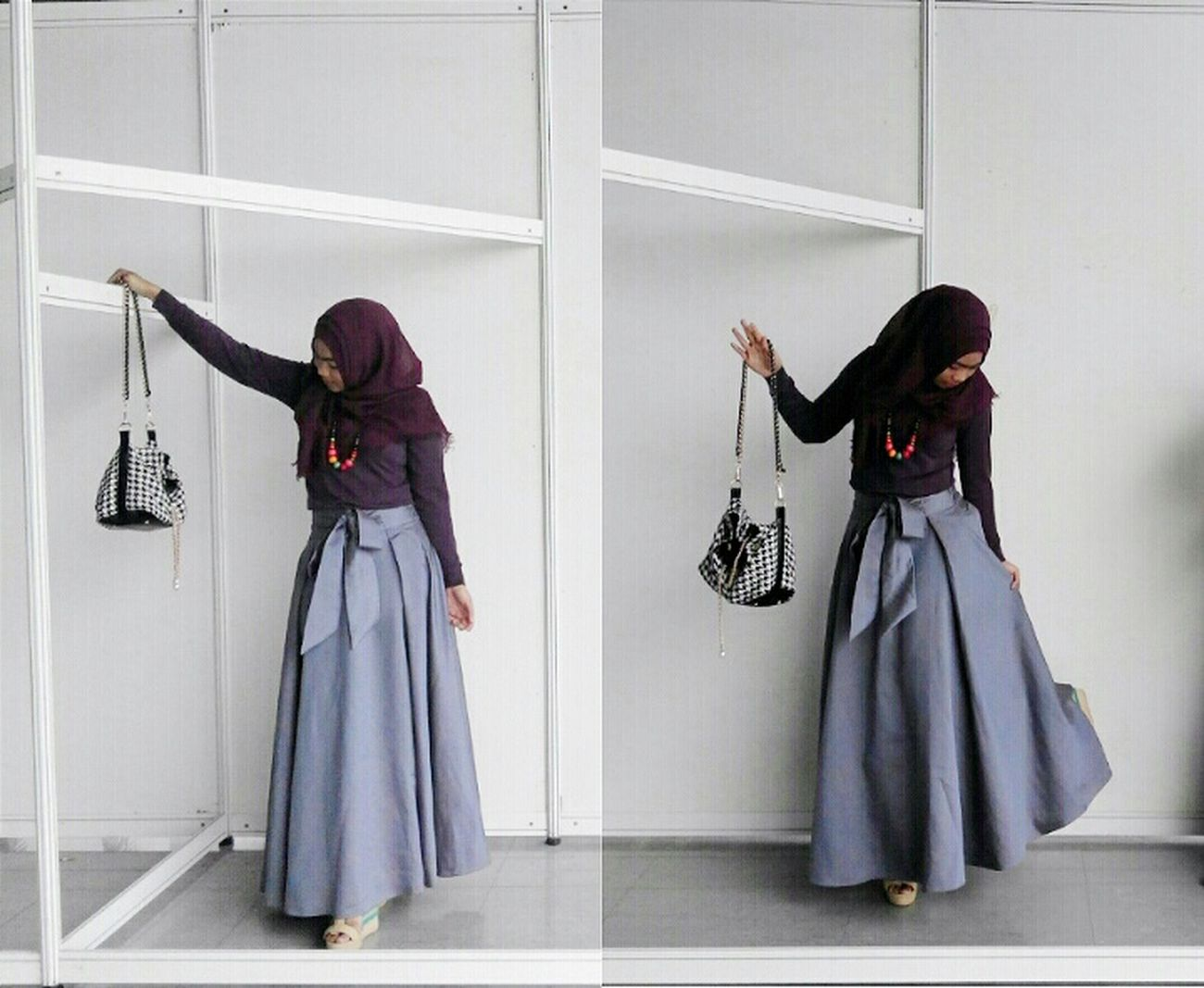 Mannequin Purple Looks Like Mannequin Street Fashion Street Photography Happy People Islam Hijabstyle  Muslimgirl Muslimahfashion