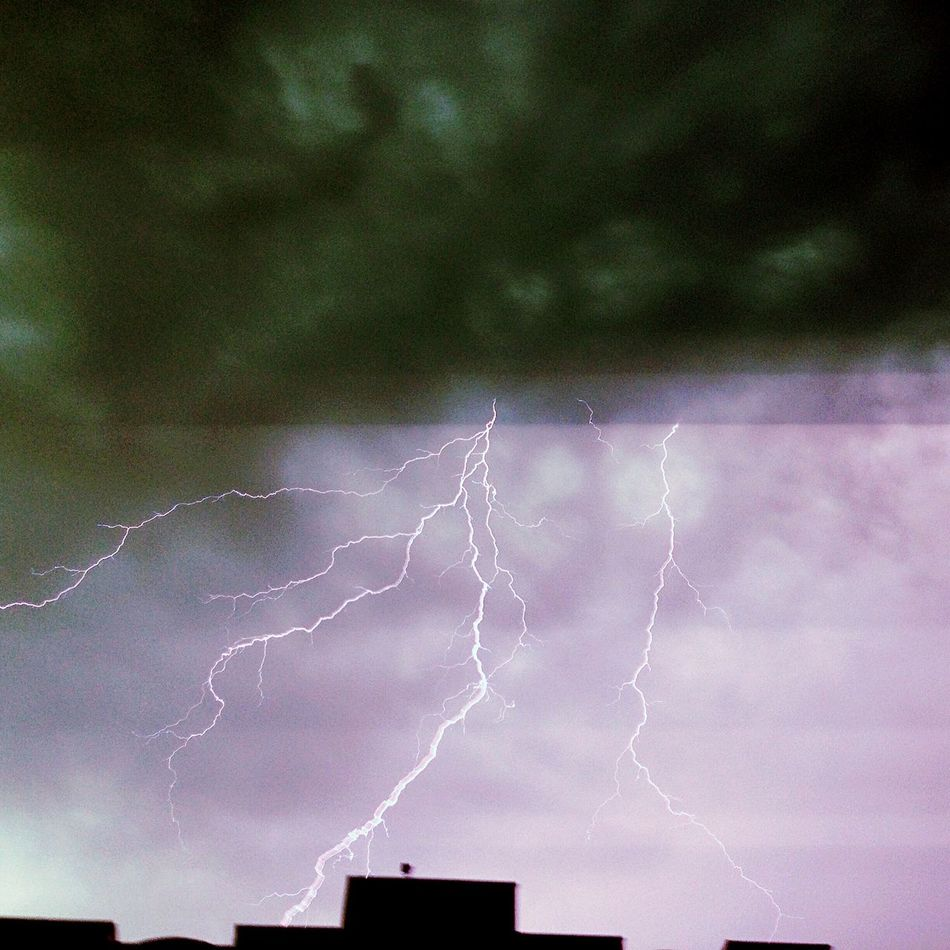 Lightning Almaty Apple City Travel Photography Urban 4 Filter Perfect View Afterrain Clouds And Sky Justenjoy