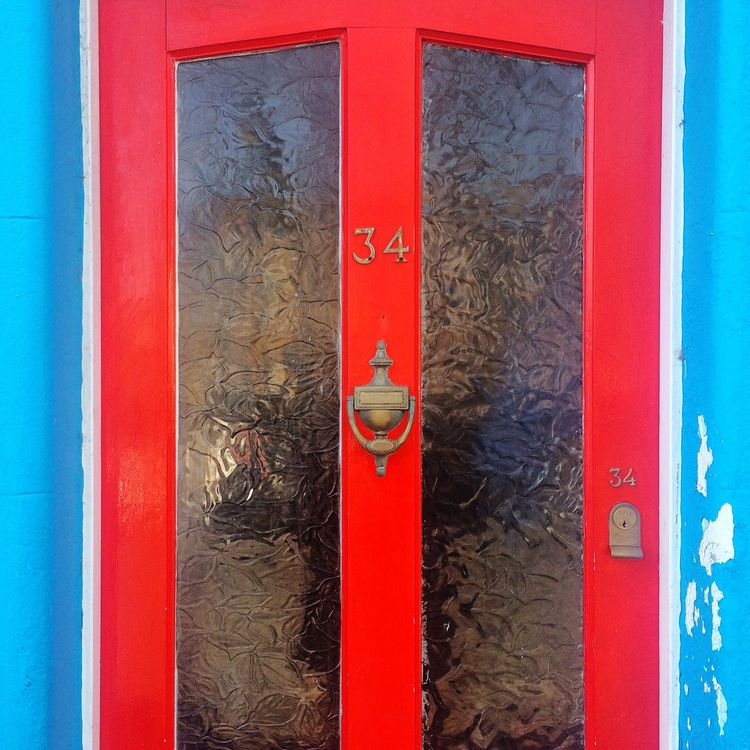 Brighton Home House Door Front Door Red Blue 34 Colourful Vibrant