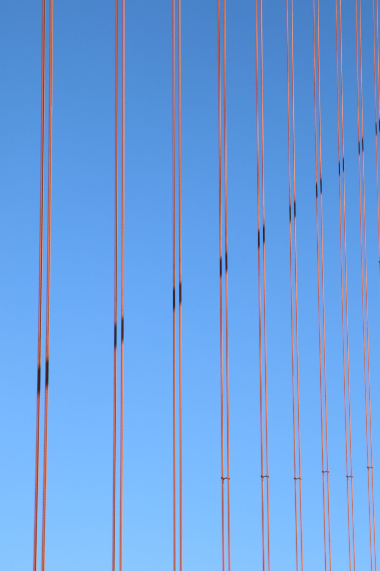 Architecture Blue Clear Sky Day Full Frame Geometric Shape Golden Gate Bridge Harp LINE No People San Francisco Shadows Sky Stability Steel Steel Strings Strings