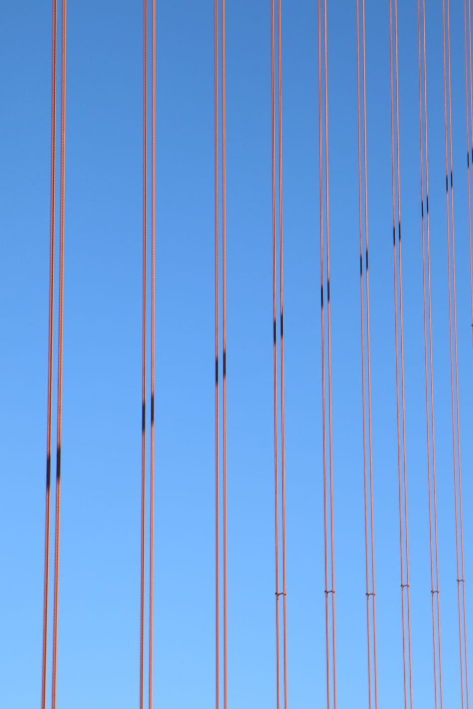 Architecture Blue Clear Sky Day Full Frame Geometric Shape Golden Gate Bridge Harp LINE No People San Francisco Shadows Sky Stability Steel Steel Strings Strings