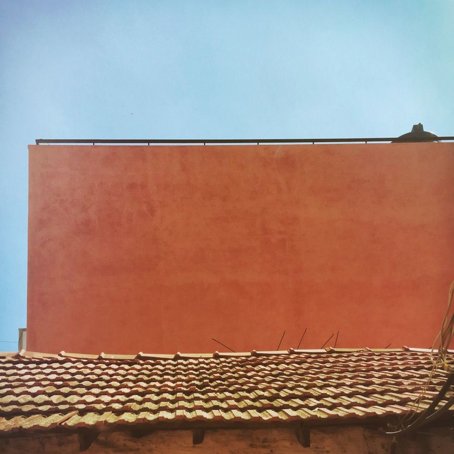 Architecture Built Structure Building Exterior Clear Sky Day Sky Outdoors Red Tile Roofs VSCO Cam Mobilephotography The Week On EyeEem EyeEm Best Shots EyeEm Gallery Eyeem Market Urban Exploration Rural Architecture