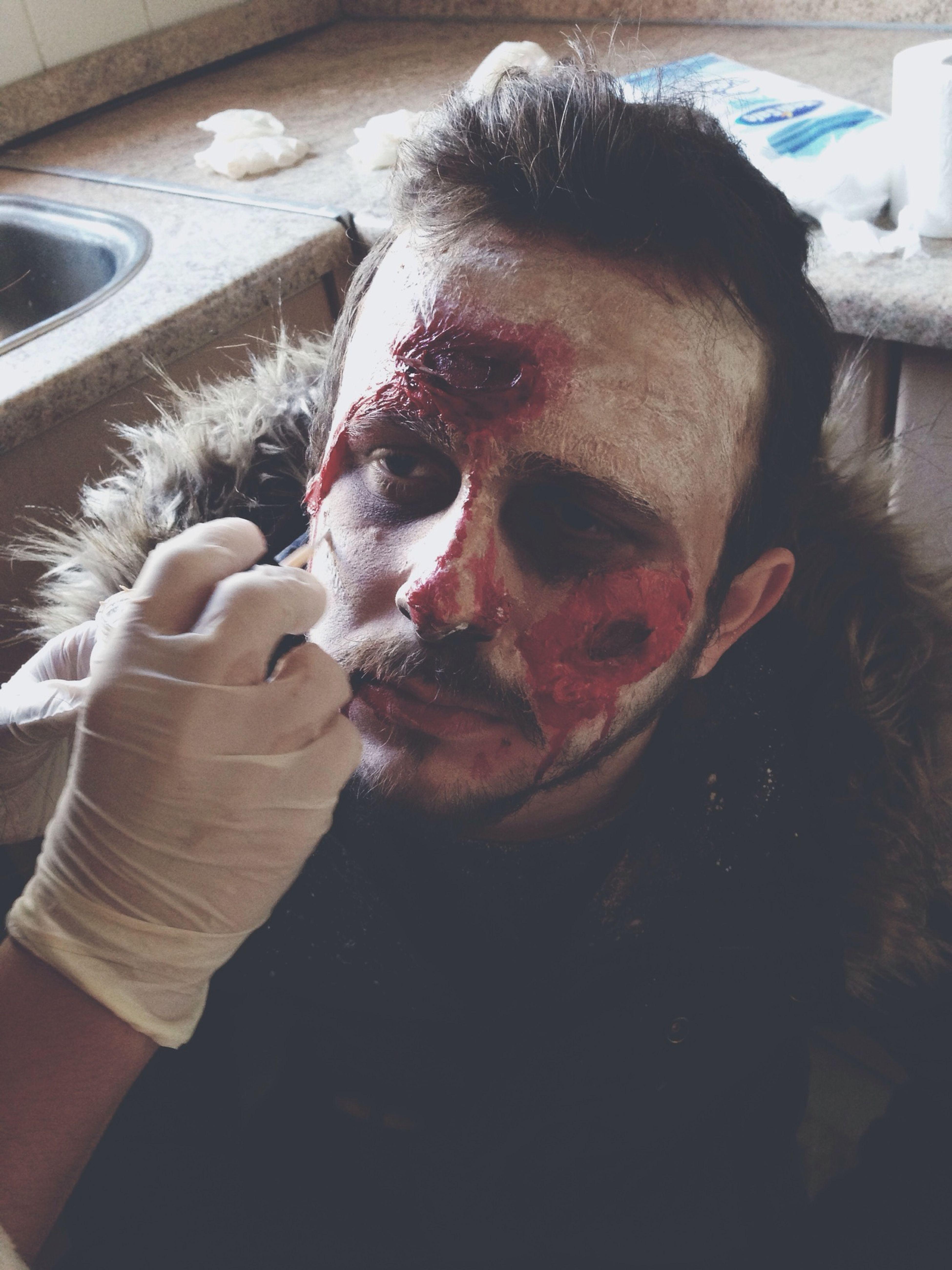 Zombie Film Perdearkası Set Behindthescene Shooting Apocalypse Heyula Makeup Makyaj