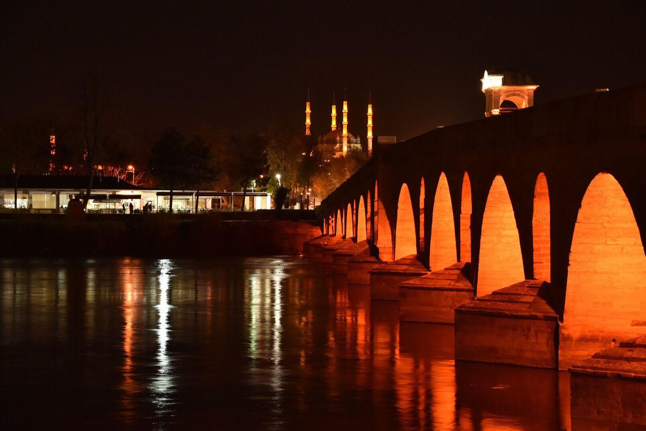Water Edirne Moscue Selimiyecamii Meriç Nehir Tarih  Kopru First Eyeem Photo