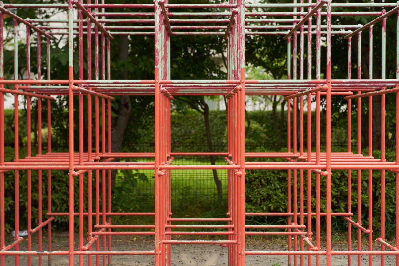 Full Frame Backgrounds Red Metal No People Outdoors Pattern Day Close-up Nature Row Rows Of Things Square Playground EyeEm Best Shots Objects Architecture Eyeemphotography Architecture_collection