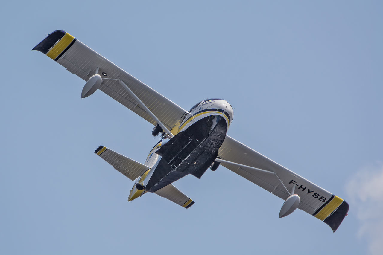 Aircraft Airplane Airshow Avion Biscarrosse Blue Day Flight Flying Flying Spirit à Biscarrosse 2016 Low Angle View Meeting Mid-air Nature No People Outdoors Seabee Seaplane Sky