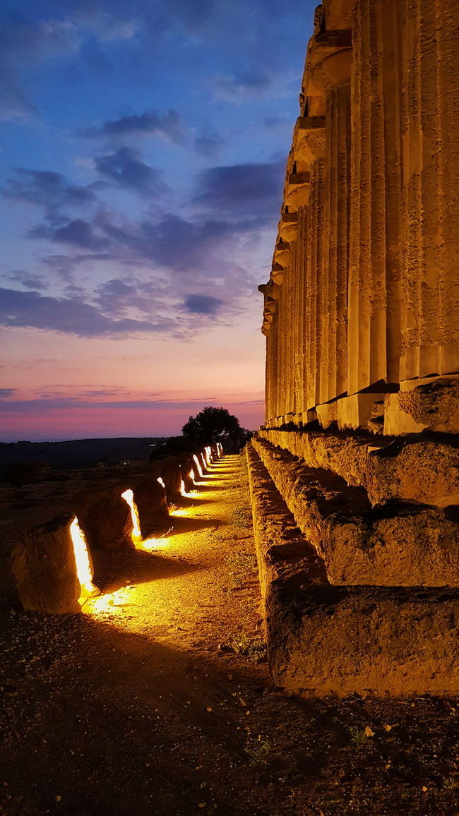 Valle Dei Templi Agrigento Sicily Traveling Great View Travel Greece Amazing Travel Photography Aroundtheworld My Point Of View Capture The Moment Moments Of Life Greatlight The Way Forward Moments Sunset No Filters Or Effects