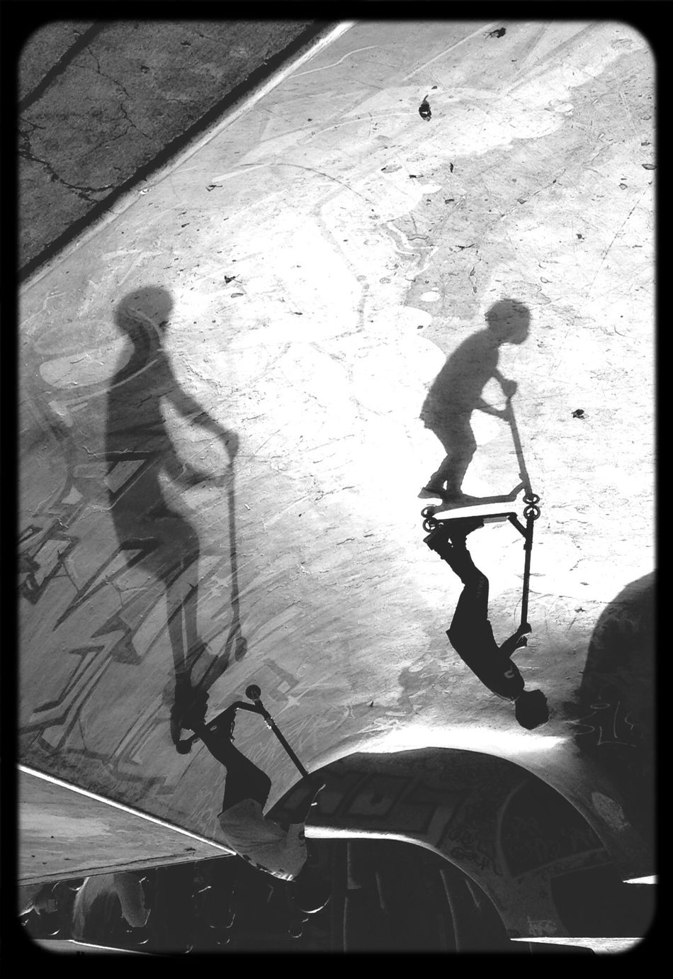 Monochrome Black And White Skateboarding Enjoying Life