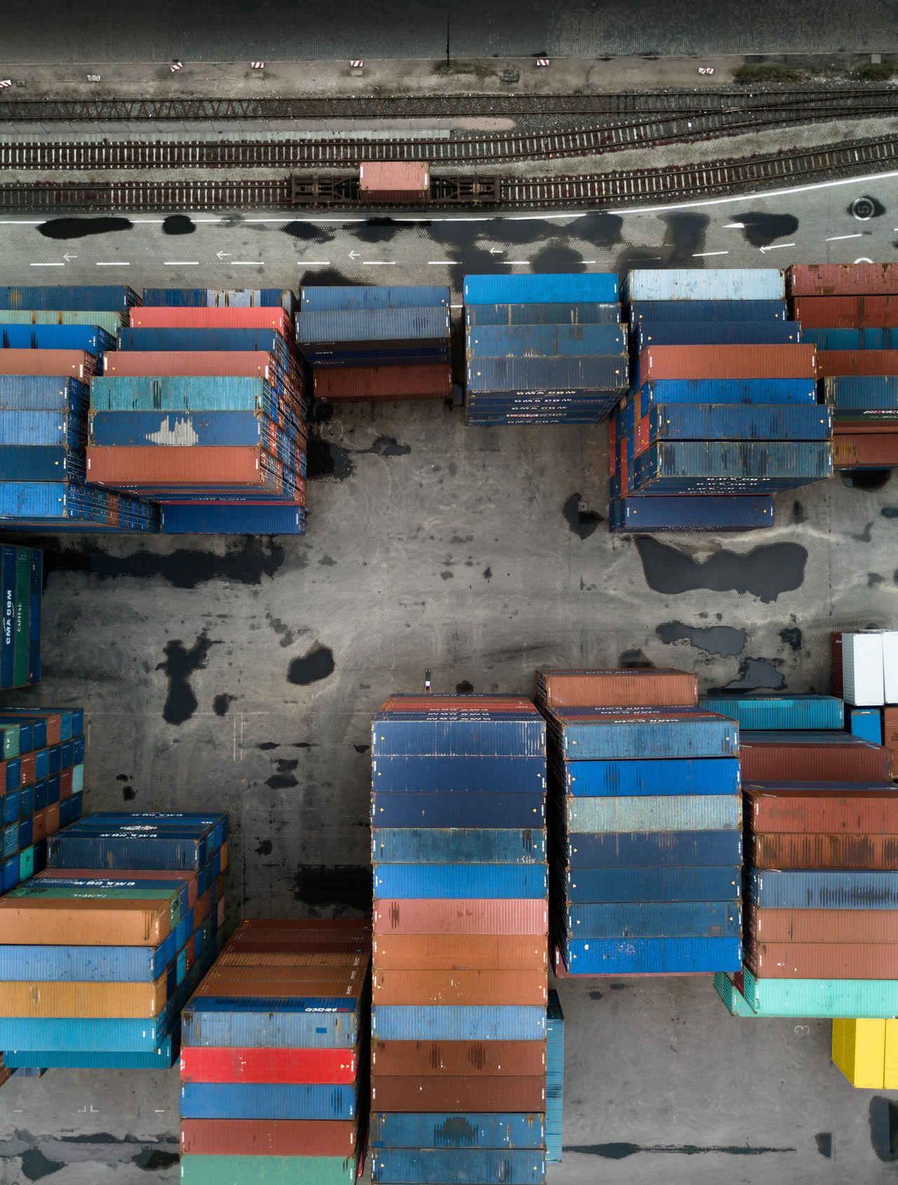 Container Day Drone  Dronephotography Droneshot Hamburg Indoors  Multi Colored
