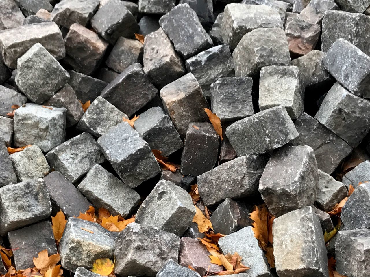 Stones Maximum Closeness Stones Grey Street Construction Autumn Geometric Shape Outdoors Berlin