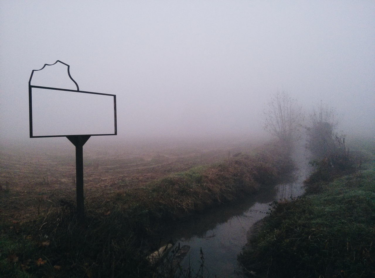 No People Nature Tranquility Tree Outdoors Landscape Sky Day Basketball Hoop Foggy Fog Foggy Day