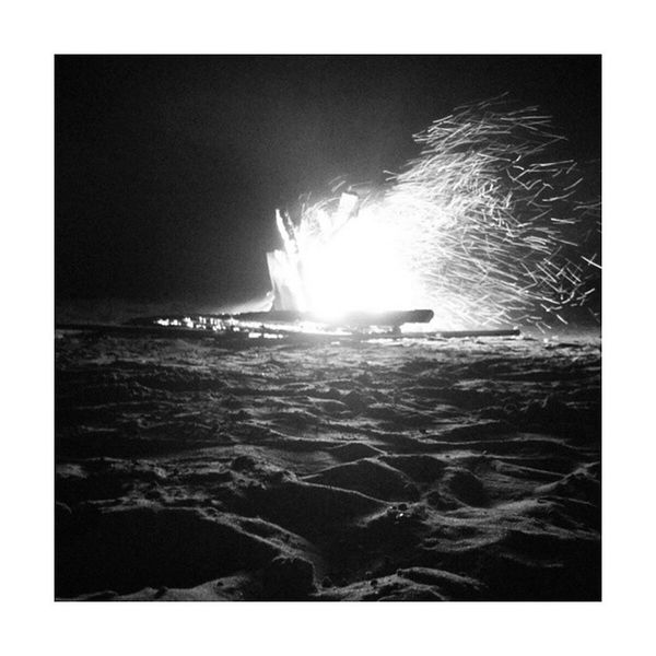 All sparks. China Holidays TANGSHAN Fire bonfire sparks cool blackandwhite