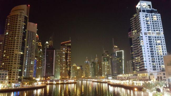 Check This Out Sea Architecture Night Photography Yacht Mydubai Marina Twinkling Lights Night Night Lights
