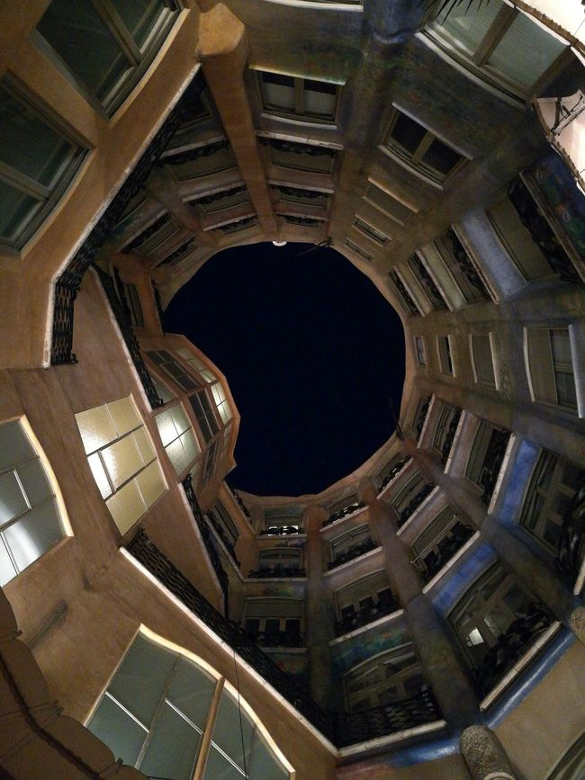 La Pedrera - Catalunya Architecture Built Structure Travel Destinations PhonePhotography Barcelona Concentric Vertical Gaudi