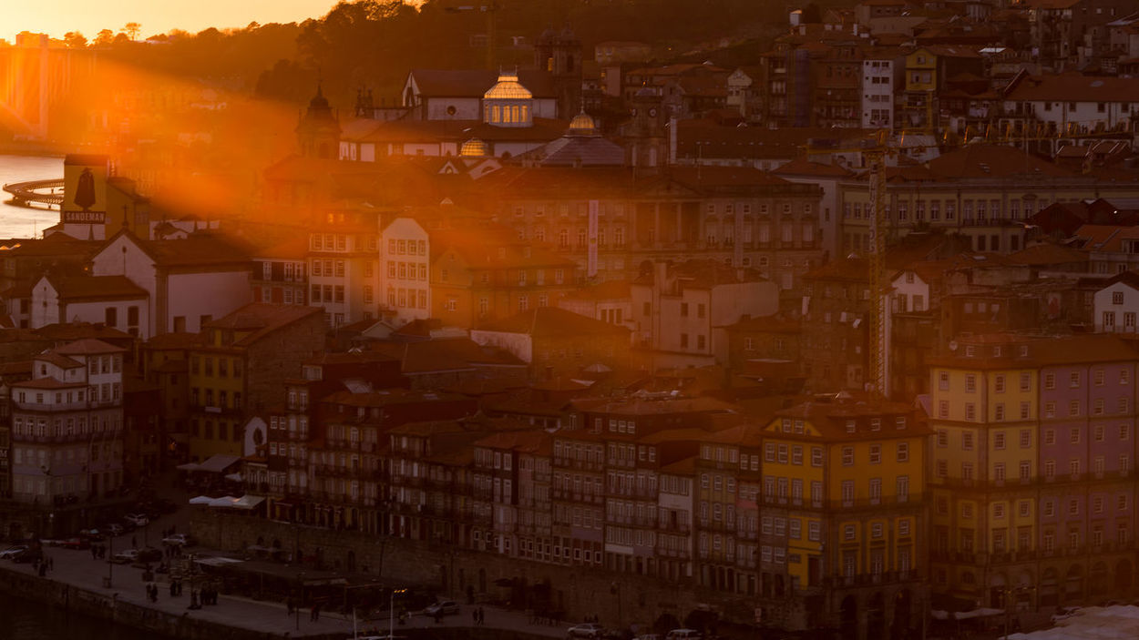 Sunset in Porto Architecture City City Life City View  Cityscape Cityscapes Douro  Façade Golden Hour Houses Porto Portugal Portwine Rays Of Light River Riverfront Sky Summer Sunlight Sunrays Sunset Tourism Travel Destinations Travel Photography Water