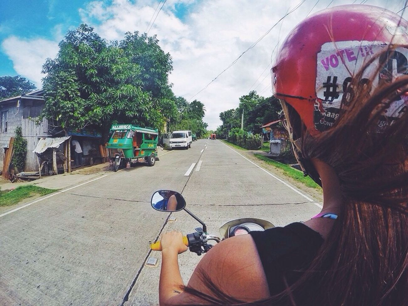 Motorcycle diaries... Mode Of Transport Outdoors EyeEm Gallery Gopro Road Philippines Empty Road Vacations Rear View Goprophilippines Camiguin Explore Wanderlust