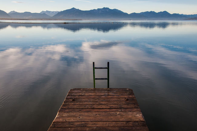 chiemsee Beauty In Nature Day Horizontal Lake Mountain Nature No People Outdoors Pier Scenics Tranquility Water