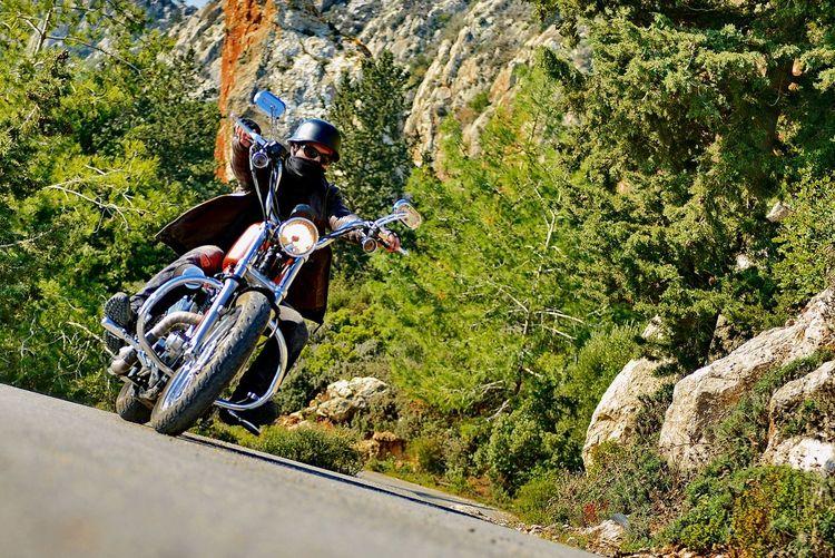 On The Road Motorcycles Lover Cyprus Kibris Harley Davidson Enjoying Life Nature
