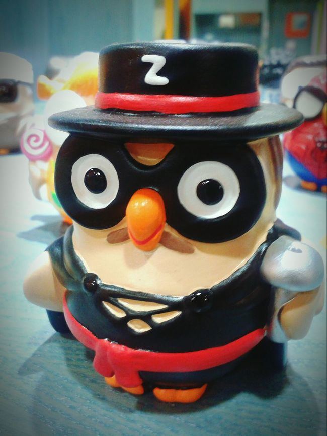 """""""Zorro"""". Zorro Figurines  Statuine Gufetti Owls Goofy Collection Collections Smartphone Photography Mobile Photography with S3mini and Camerazoomfx in HDR shooting mode, Eyeemfilter Urban 2"""