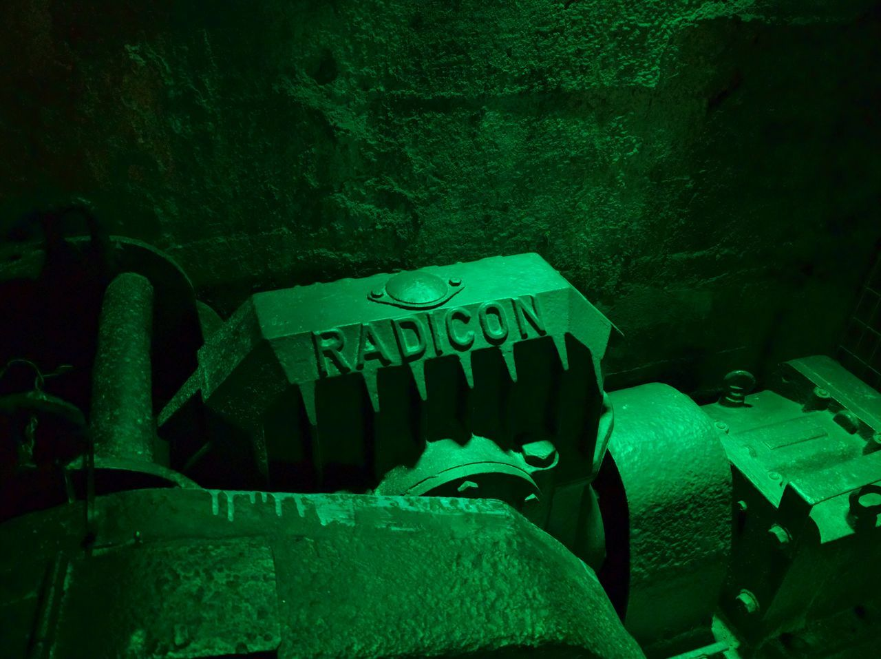 Radicon Green Color No People Indoors  Close-up Art And Craft Architecture Psyched Three Dimensional Indoors  Shape Mining Old-fashioned Industrial Equipment Bochum History Mining Industry Iron - Metal Mining Heritage Industry Factory Manufacturing Equipment Multi Colored Technology Indoors