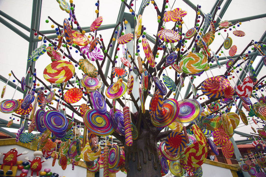 Candy Candy Tree Candys Choice Close-up Day For Sale Hanging Large Group Of Objects Market Multi Colored Multicolored No People Retail  Sweet Variation Lollipop Lollipops