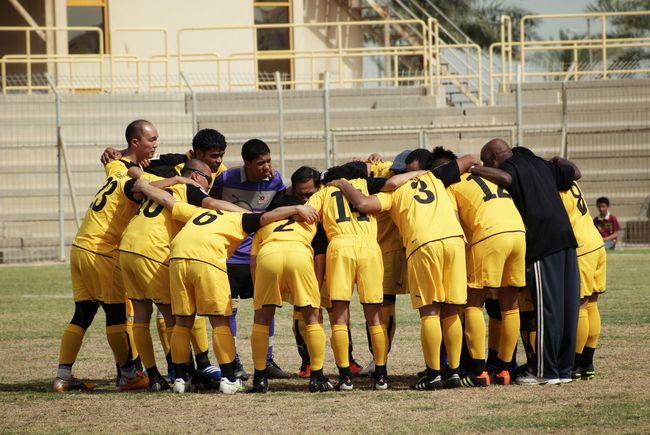 Football Fever Football Team Huddle Team Training Coach Football Training Soccer Football Practice Men Players Sportsmen