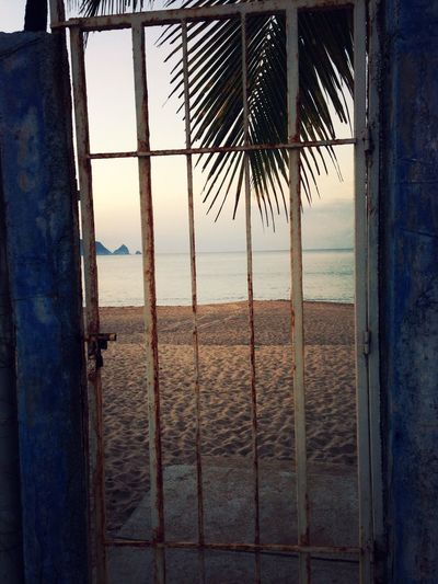 View beyond the gate. Mexico Sea Blue IPhoneography