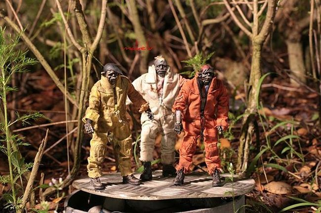 The beginning of the end The virus wasn't really considered as airborne. It could live but only as long as one minute. When the lab technician dropped the small little glass vial, he panicked. But since he was protected by the Hazmat suit and the entire place was secured, there wasn't really much to worry about. So the virus was sucked into the vent to be expunged by the fiery inferno that was a secondary preventive measure against an outbreak. The problem was that the three engineers above the underground biological weapons research station were fixing the inferno system. And hence the virus travelled through the duct that was to lead them to a fiery end and was released into the air that the engineers were breathing in. Total travelling time using the duct system, 45 seconds. The three of them breathed in the virus and went through rapid and painful deaths before waking up again in the form of the undead. Total elapsed time, 20 minutes. The security door opened and out walked a bunch of technicians, ready to assist the engineers in whatever they need to get the job done. Walking right into the embrace of the undead. Toyartistry Toptoyphotos Toycommunity Toyplanet Vitruvianbrix Geekunion Toyelites Sgtoylust Toydiscovery Justanothertoygroup Toygroup_alliance Toyhumor Creativewriting Shortstories Toysaremydrugs Toycrewbuddies Anarchyalliance Toyboners Toyunion Designertoy Vinyltoy Rebeltoysclub Arts_help Blvart Designertoys vinyltoys nogods_justmonsters 3ajp worldofthreea plasticsingapore