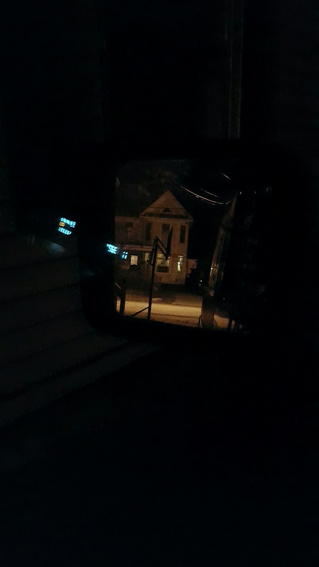 Learn & Shoot: After Dark creepy Eyeem Market Night Photography Neighborhood Night Lights Mirror On Car