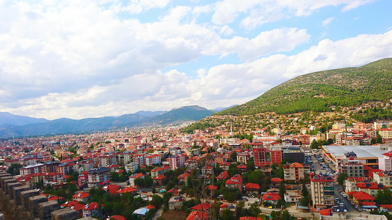 Bucak Burdur Türkiye Mountain Politics And Government Cultures Outdoors Sky Social Issues Landscape Cloud - Sky Happiness Scenics No People Urban Skyline City Day Architecture Cityscape Flag First Eyeem Photo