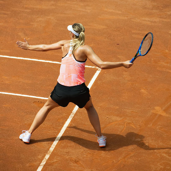 Maria Sharapova - Training session - Internazionali Tennis Roma - Italy 2017 Activity Athlete Competition Competitive Sport Court Exercising Healthy Lifestyle International Italia Italy Lifestyles Maria Motion One Woman Only Roma Sharapova Sport Sports Clothing Tennis Tennis Racket Training Vitality Women Young Women