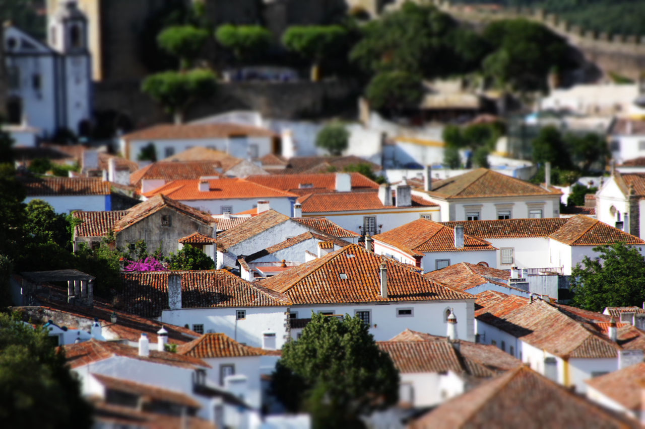 Architecture Building Exterior Built Structure Cityscape Day High Angle View House Housing Settlement No People Outdoors Residential Building Roof Sky Tilt-shift Tree