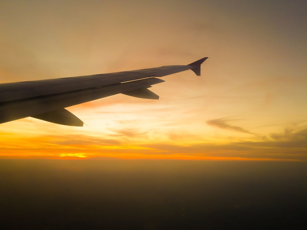 Airplane Sunset Transportation Sky Journey Flying Nature Travel Aircraft Wing Beauty In Nature No People Airplane Wing Plane Cloud - Sky Cloudscape Dramatic Sky Air Vehicle Outdoors Day