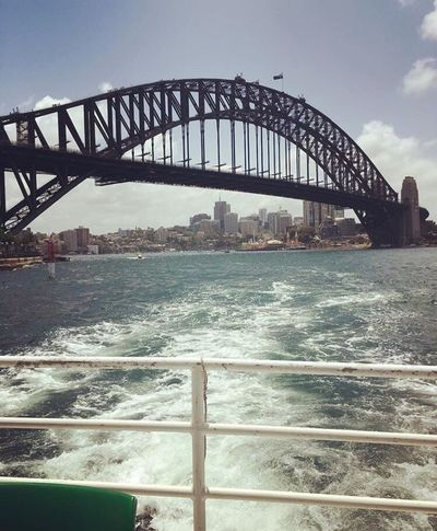 Sydney Sky Bridge - Man Made Structure Water Sea Architecture Outdoors Built Structure Day City No People