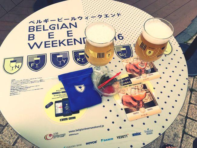 今日はベルギービールウィークエンドに参戦!!! Beautiful Day Enjoying Life Relaxing