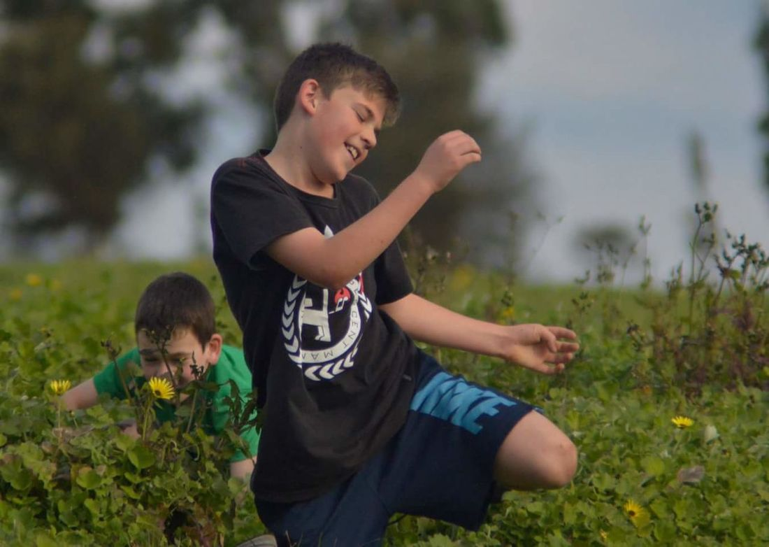 Enjoy The New Normal Child Two People Full Length Childhood Boys Males Real People Togetherness Brother Outdoors People Grass Friendship DayNature Adult Smelling The Flowers Kids Playing Candidshot