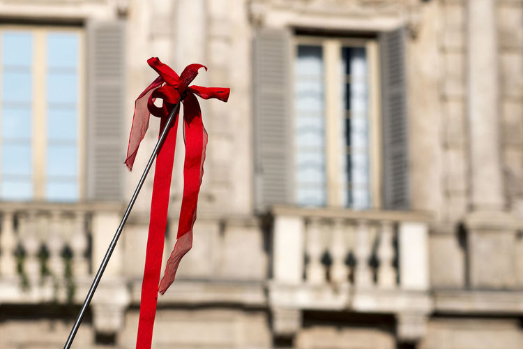 Background City Colore Rosso House Nastro Pattern Red Sfondo Palazzo Maffei in Piazza Erbe Verona Italy