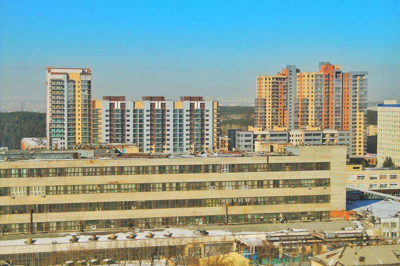 урбанистика город челябинск  утро дома❤ смог