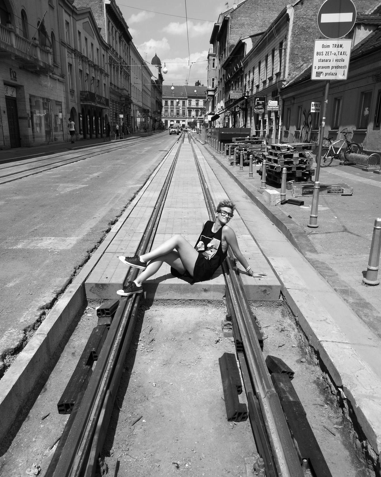Taking Photos Seize The Moment Beautiful Monochrome Blackandwhite Girlmodel Underconstruction  Emptystreets Zagreb, Croatia Frankopanska