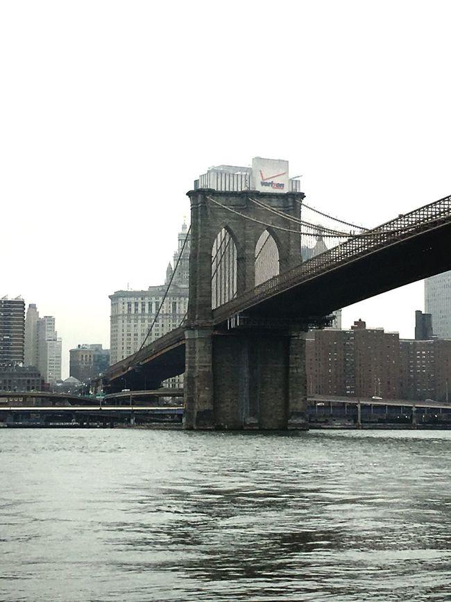 First Eyeem Photo New York Brooklyn Winter Lovenewyork Greatest_shots Beautifulcity Fitstagram Black And White Bridge