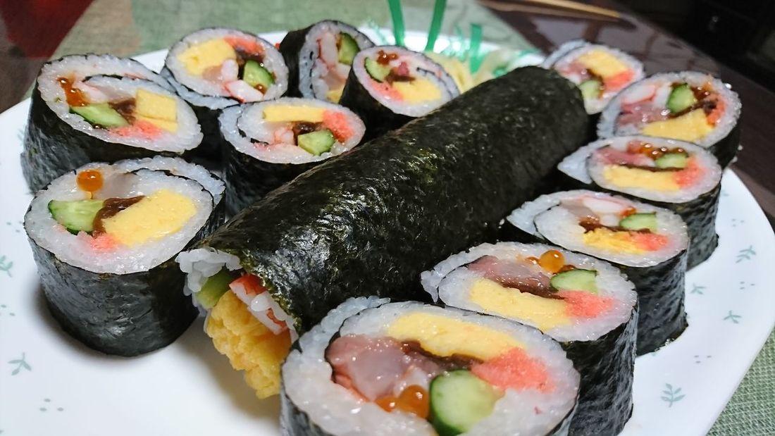 清寿司さんの恵方巻🙆 Healthy Eating Food Delicious Dinner Sushi Japanese Style Japanese Food 恵方巻 恵方巻き